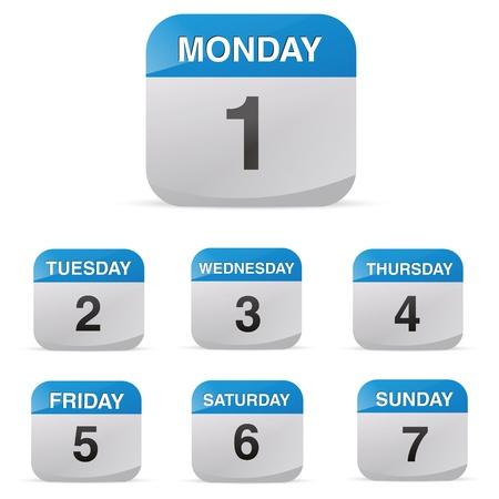 calendar set icon symbol month year calendar sheet kalendarium birthday holiday office diary Stock Vector - 19422251