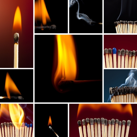 matchstick matchstick set collection light smoke smoldering fire flame candle lighter sulfur coal photo
