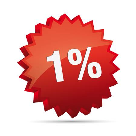 clacker: 1 one percent Reduced 3D Discount advertising action button badge bestseller free shop sale
