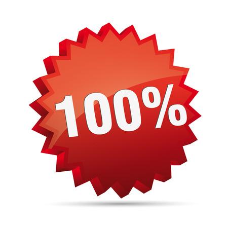 clacker: 100 hundred percent reduced 3D Discount advertising action button badge bestseller shop sale