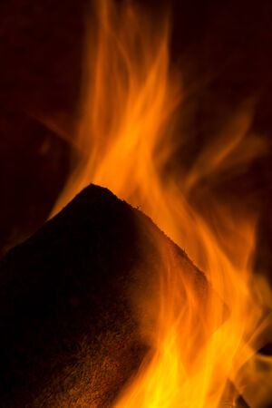 briquettes: chimney smoke fire flame burn energy cozy winter firewood chimney pattern black Stock Photo