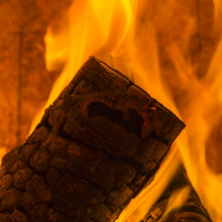 conflagration: chimney smoke fire flame burn energy cozy winter firewood chimney pattern black Stock Photo