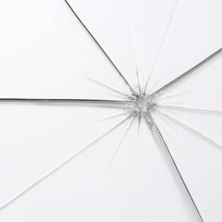 breakage: glassbreak glass crack damage splinter broken shards theft burglar accident Stock Photo