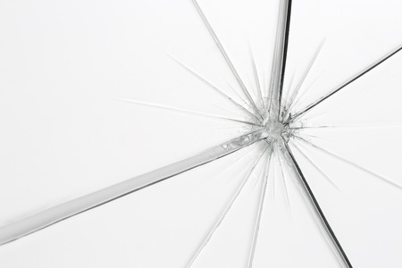splinter: glassbreak glass crack damage splinter broken shards theft burglar accident Stock Photo