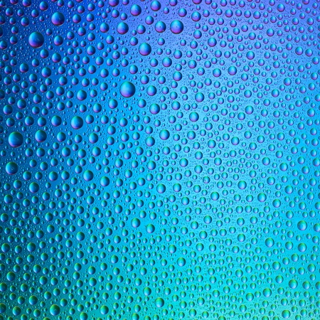 self sealing: Water drops spectral gradient blue ocean nature colors rainbow colorful beading lotuseffekt dew sealing