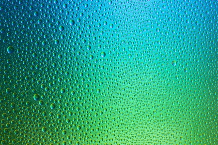 hydrophobic: Waterdrops spectral gradient blue ocean green nature colors rainbow colorful beading lotuseffekt dew sealing
