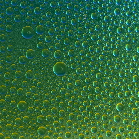 Water drops spectral gradient nature yellow green colors rainbow colorful beading lotuseffekt dew sealing