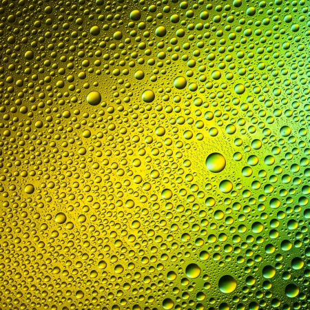 hydrophobic: Waterdrops spectral gradient yellow green nature colors rainbow colorful beading lotuseffekt dew sealing