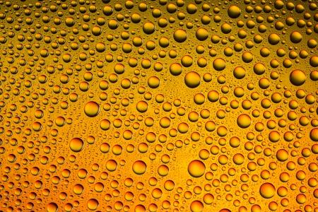 self sealing: Waterdrops spectral gradient orange sun summer yellow colors rainbow colorful beading lotuseffekt dew sealing