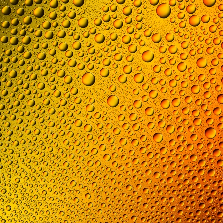 hydrophobic: Waterdrops spectral gradient orange sun summer yellow colors rainbow colorful beading lotuseffekt dew sealing