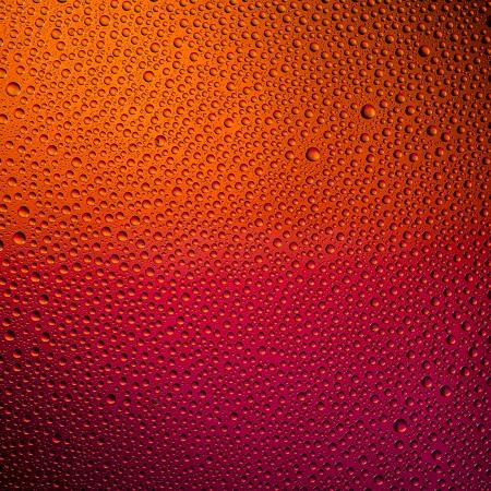 Waterdrops spectral gradient red orange sun colors rainbow colorful beading lotuseffekt dew sealing