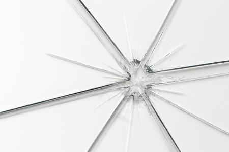 shards: glassbreak glass crack damage splinter broken shards theft burglar accident Stock Photo