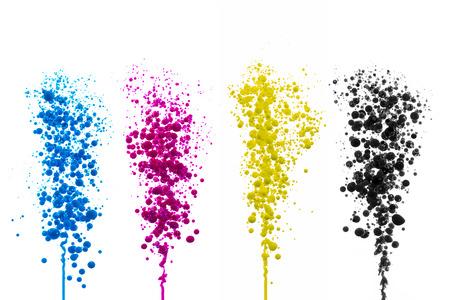 Ölfarbe Cyan Magenta Kugeln blasen Druck CMYK-Farbmodell druckerei splash bunten Farbklecks