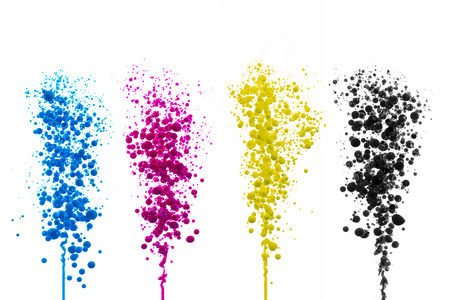 oil paint Cyan Magenta balls bubbles print cmyk color model druckerei splash farbklecks colorful