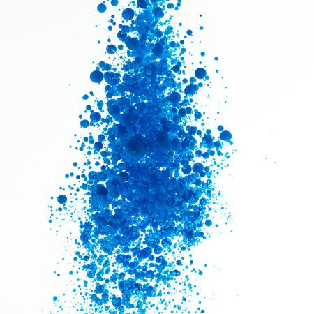 messed up: oil paint Cyan blue balls bubbles print cmyk color model druckerei splash farbklecks colorful Stock Photo