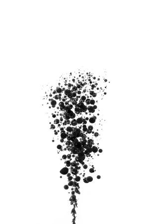 Lfarbe schwarze Taste Bälle Blasen Druck CMYK-Farbmodell Druckerei Farbklecks bunten splash Standard-Bild - 27079397