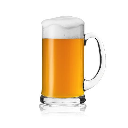 beer glass beer foam beer mug beer mug bavaria gold foam crown alcohol brewery isolated Stock Photo