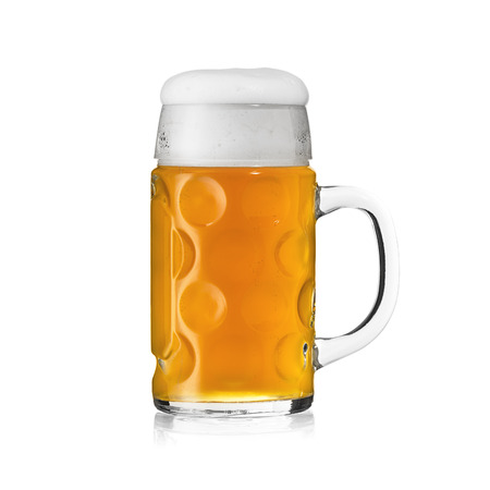 stein: beer glass beer froth bavaria oktoberfest beer stein gold foam crown Mass alcoholic brewery isolated