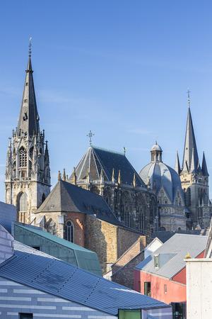 rhine westphalia: Aachen Cathedral Aachen parish church parish of St  Foillan UNESCO imperial monument gothic church