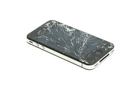 poškozené: Iphone 4 4s rozbití skla člení oprava displej mobilního telefonu poškození displeje pojištění Redakční