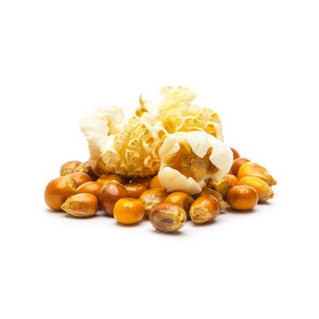 bowl of popcorn: popcorn bowl on white background