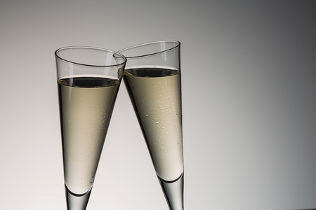 clink: Clink glasses with champagne on new year�s eve.   Stock Photo