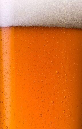 beer garden: beer with dew drops background Stock Photo
