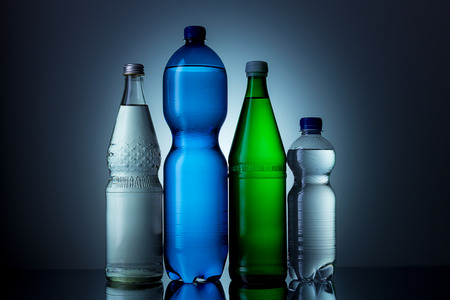 mineral water: different bottle of mineral water