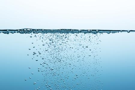 bubbels de oxígeno en el agua