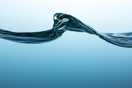 water wave: water wave on blue background