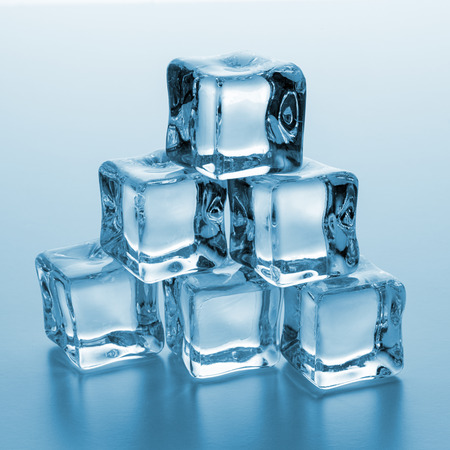 icecubes: heap of Crystal clear ice cubes