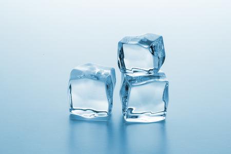icecube: Three ice cubes on blue gradient background