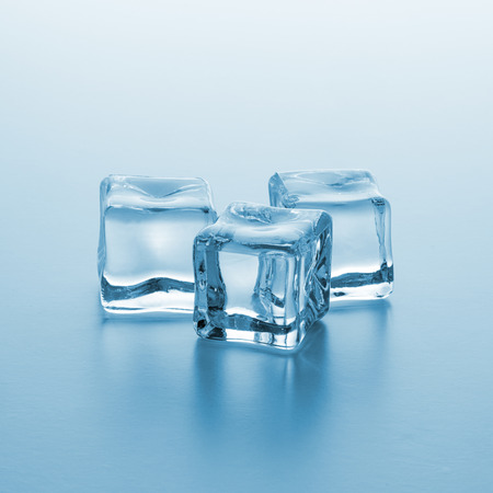 icecubes: group of three Crystal clear ice cubes