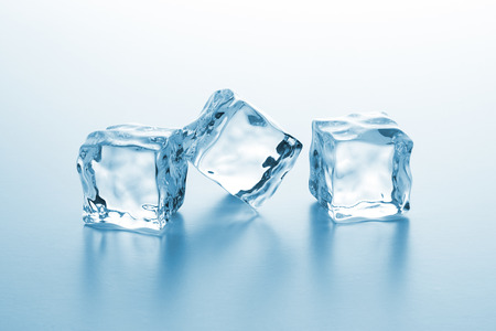 icecube: group of three clear ice cubes