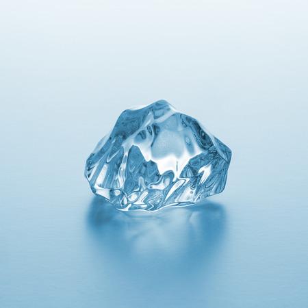 bebidas frias: chucnk de hielo transparente Foto de archivo