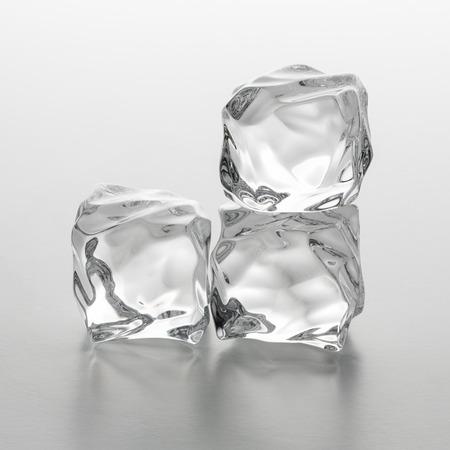 icecubes: tower of three ice rocks cubes Stock Photo
