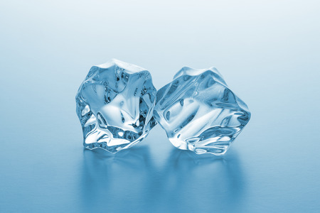 icecubes: Two ice rocks on blue gradient background