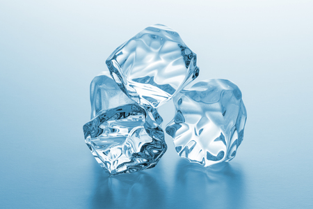 icecubes: Cold clear ice chunks on blue gradient background