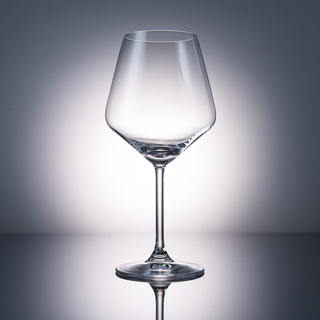 investigated: glass for red wine on black gradient background