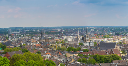 A view of the imperial city of Aachen in Germany
