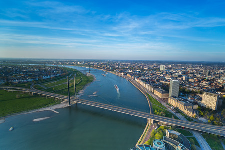 Aerial View of Dusseldorf city in North rhine Germany Stock fotó