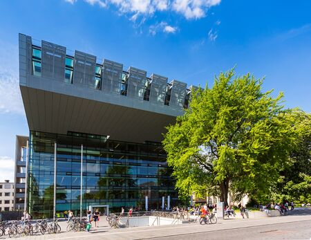 technically: RWTH Aachen University building at summer in germany Editorial