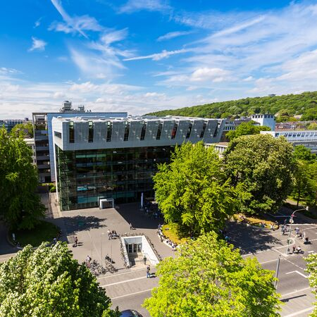 technically: RWTH Aachen University Campus at summer in germany Editorial