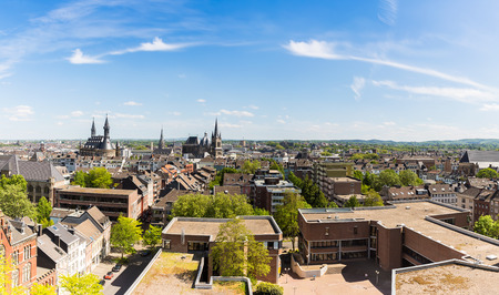 townhall: Aachen city with Cathedral and Townhall in Germany Stock Photo