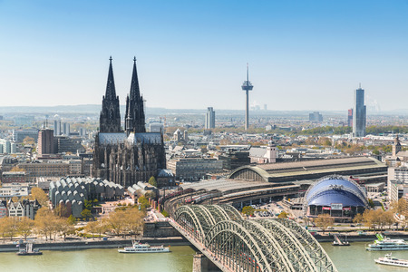 Cologne City with Cathedral at spring in germany Stock fotó