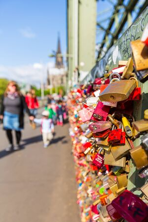 concluded: Love locks at the Hohenzollern Bridge in Cologne Germany Editorial