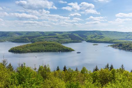 eifel: Rursee lake in the Eifel in Germany Stock Photo