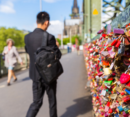 concluded: Hohenzollern Bridge in Germany with Love Locks