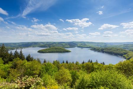 eifel: Rursee lake at the Eifel National Park in summer