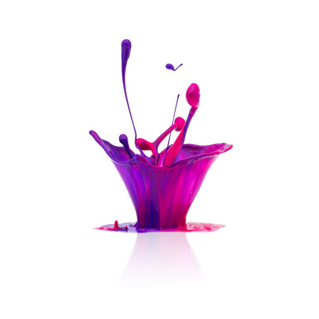 color backgrounds: abstract splash Colorful oil paint Stock Photo